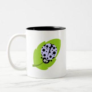 Lavender Blue Ladybug Two-Tone Coffee Mug