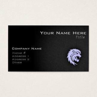 Lavender Blue Leo Lion Business Card