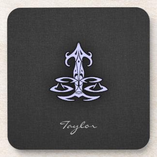 Lavender Blue Libra Drink Coaster