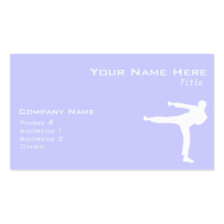 Lavender Blue Martial Arts Double-Sided Standard Business Cards (Pack Of 100)