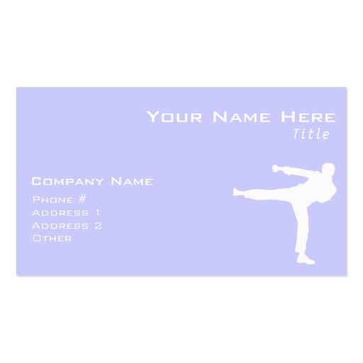 Lavender Blue Martial Arts Business Card
