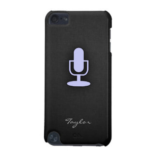 Lavender Blue Microphone iPod Touch 5G Covers
