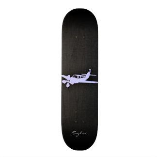Lavender Blue Plane Skate Deck
