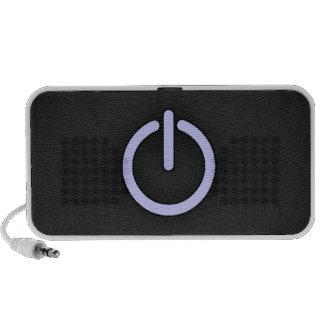 Lavender Blue Power Button Travel Speakers