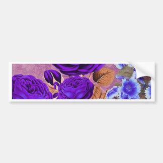 Lavender Blue Roses Bumper Sticker