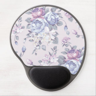 lavender,blue,roses,country,shabby,chic,victorian, gel mouse pad