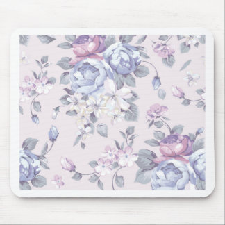 lavender,blue,roses,country,shabby,chic,victorian, mouse pad
