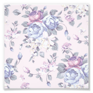 lavender,blue,roses,country,shabby,chic,victorian, photo print