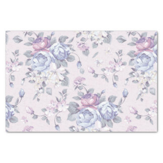 lavender,blue,roses,country,shabby,chic,victorian, tissue paper