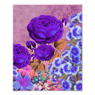 Lavender Blue Roses Photographic Print