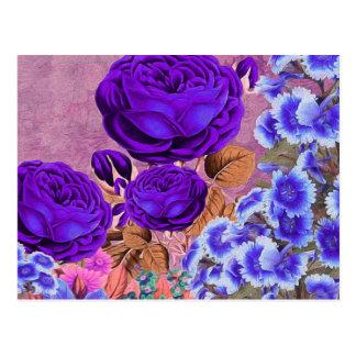 Lavender Blue Roses Postcard