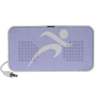 Lavender Blue Running Travel Speakers
