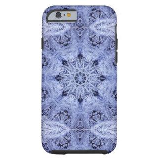 Lavender Blue Snowflake Tough iPhone 6 Case
