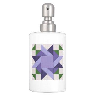 Lavender Blue Soap Dispenser And Toothbrush Holder