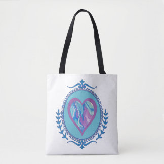 Lavender Blue Tote Two
