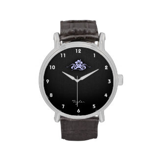 Lavender Blue Tropical Hibiscus Watch