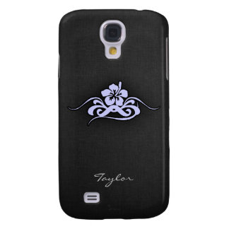 Lavender Blue Tropical Hibiscus Galaxy S4 Case