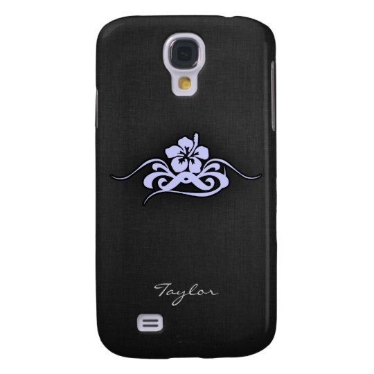 Lavender Blue Tropical Hibiscus Galaxy S4 Case
