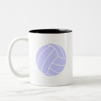 Lavender Blue Volleyball Two-Tone Mug