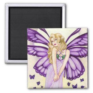 Lavender Blush Magnet, fairy art Square Magnet