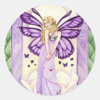 Lavender Blush Sticker, Large Round Sticker