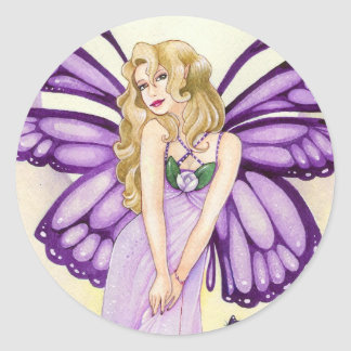 Lavender Blush Sticker, Small Round Sticker