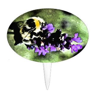 Lavender Bumblebee Fresco Cake Picks