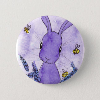 Lavender Bunny Badge by Peppermint Art