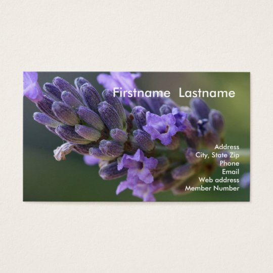 Lavender Business Card