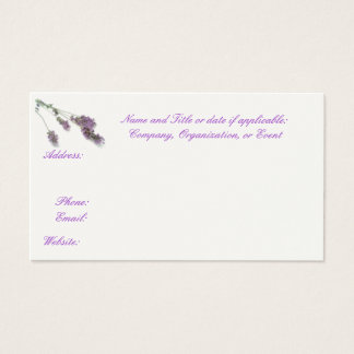 Lavender business, Save the Date, or Calling cards