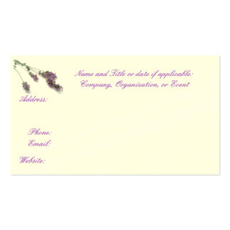 Lavender business, Save the Date, or Calling cards Pack Of Standard Business Cards