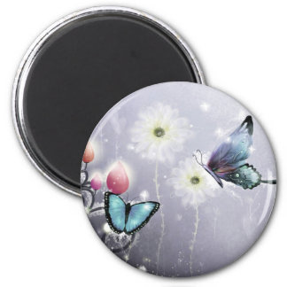 Lavender Butterfly Abstract Magnet
