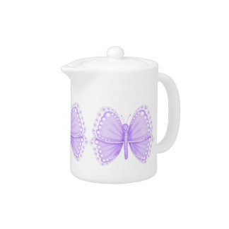 Lavender Butterfly Teapot