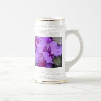 Lavender Catleya Orchids Stein 18 Oz Beer Stein