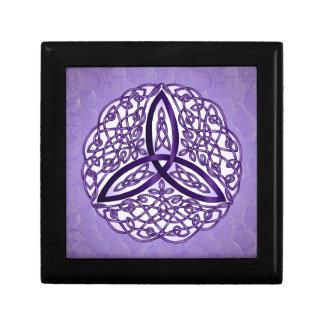 Lavender Celtic Art Trinity Knot Gift Box