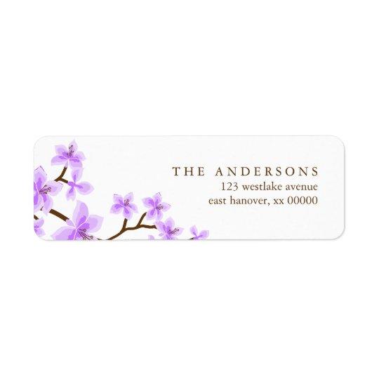 Lavender Cherry Blossoms Address Labels