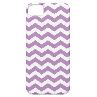 Lavender Chevron Stripes Pattern iPhone 5 Case