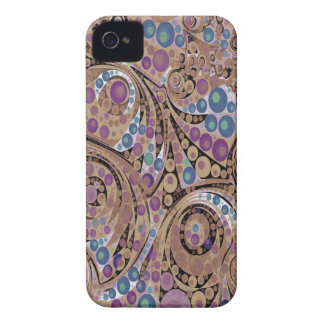 Lavender Chocolate Abstract Case-Mate iPhone 4 Case