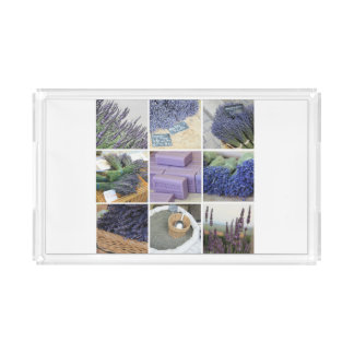Lavender Collage by ProvenceProvence Acrylic Tray