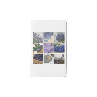 Lavender Collage by ProvenceProvence Pocket Moleskine Notebook