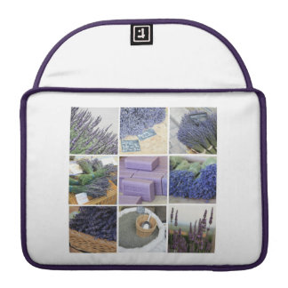Lavender Collage by ProvenceProvence Sleeve For MacBook Pro