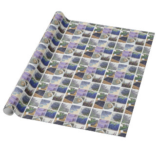 Lavender Collage by ProvenceProvence Wrapping Paper