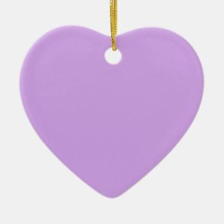 Lavender Color Ceramic Heart Decoration