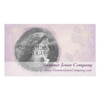 Lavender Colored Custom Photo Frame Business Card Template