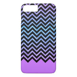Lavender & Colorful Glitter Zigzag Chevron Pattern iPhone 7 Plus Case