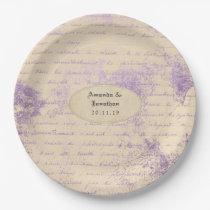 Lavender colour theme Wedding Paper Plate