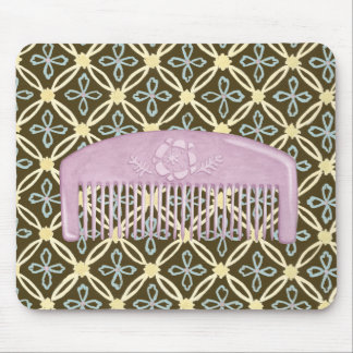 Lavender Comb on Chocolate Background Mouse Mat