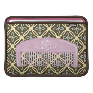 Lavender Comb on Chocolate Background Sleeve For MacBook Air