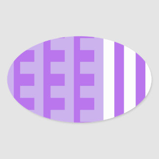 Lavender Combs Tooth Oval Sticker