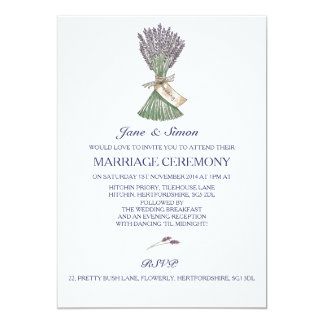 Lavender Country Garden Wedding Invitation